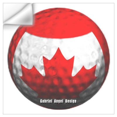 Canadian Golf Wall Decal