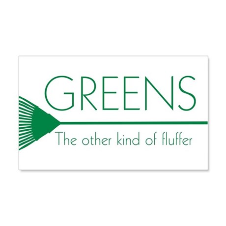 Greens: Fluffers 22x14 Wall Peel