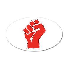 Raised Fist 22x14 Oval Wall Peel