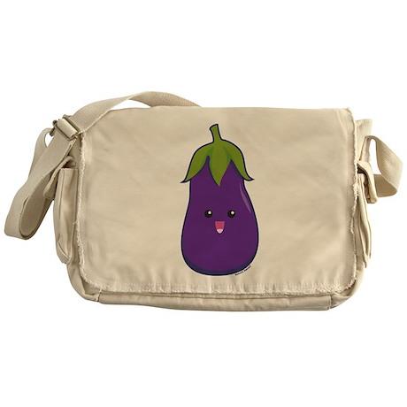 Eggplant Messenger Bag
