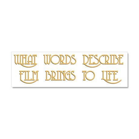 Film Brings Life Car Magnet 10 x 3
