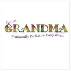 PROUD GRANDMA-PRACTICALLY PERFECT IN EVERY WAY... Poster