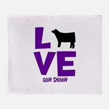 Cute Cattle Throw Blanket