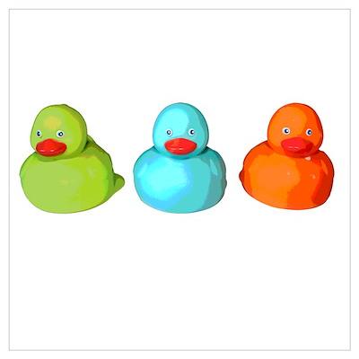 Three Rubber Ducks Poster