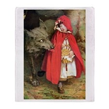 Little Red Riding Hood Throw Blanket