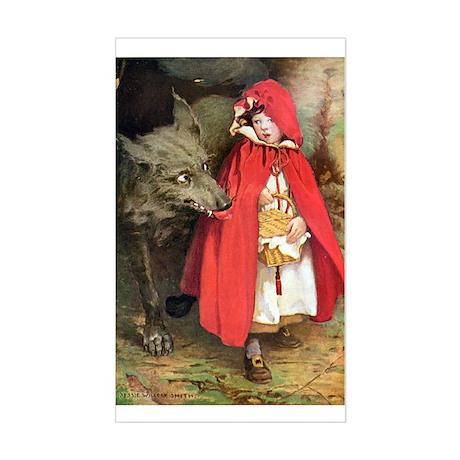 Little Red Riding Hood Sticker (Rectangle)