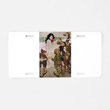 Snow White & the Seven Dwarfs Aluminum License Pla