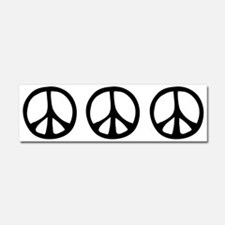 Flowing Peace Sign Car Magnet 10 x 3