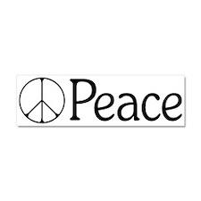 Elegant 'Peace' Sign Car Magnet 10 x 3