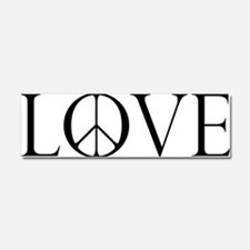 Love Peace Sign Car Magnet 10 x 3