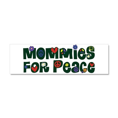 Mommies for Peace Car Magnet 10 x 3