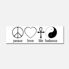 Peace Love Life Balance Car Magnet 10 x 3