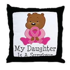 Breast Cancer Survivor Daughter Throw Pillow