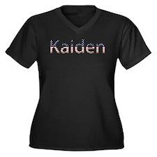 Kaiden Stars and Stripes Women's Plus Size V-Neck