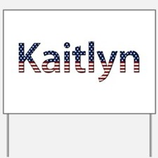 Kaitlyn Stars and Stripes Yard Sign