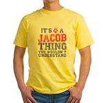 A Jacob Thing Yellow T-Shirt