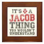 A Jacob Thing Framed Tile