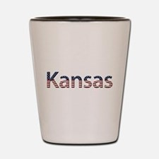Kansas Stars and Stripes Shot Glass