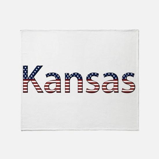 Kansas Stars and Stripes Throw Blanket