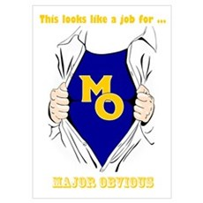 Major Obvious_ gold Lettering Poster