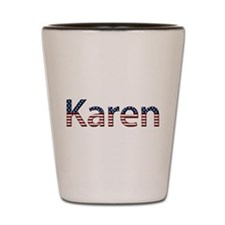 Karen Stars and Stripes Shot Glass