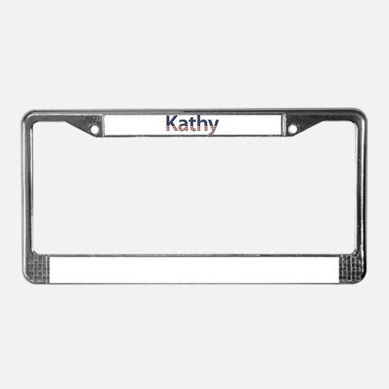 Kathy Stars and Stripes License Plate Frame