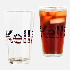 Kelli Stars and Stripes Drinking Glass