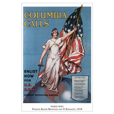 Columbia Calls Enlist Now Poster
