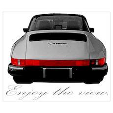 "911 Targa ""Enjoy the view."" Poster"