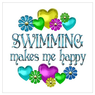 Swimming Happiness Framed Print