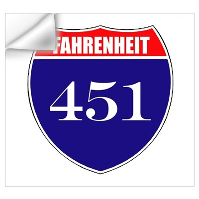 Fahrenheit Route 451 Wall Decal