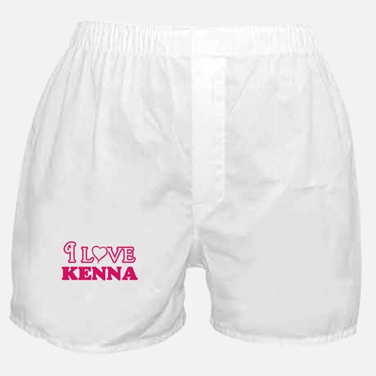 I Love Kenna Boxer Shorts