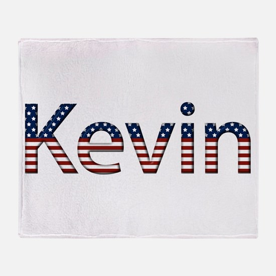 Kevin Stars and Stripes Throw Blanket