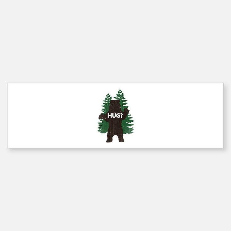 Bear hug? Sticker (Bumper)