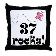 37th Birthday Butterfly Throw Pillow