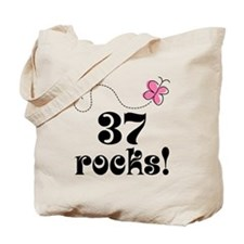 37th Birthday Butterfly Tote Bag