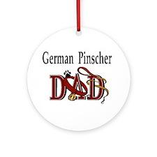 German Pinscher Dad Ornament (Round)