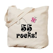 55th Birthday Butterfly Tote Bag