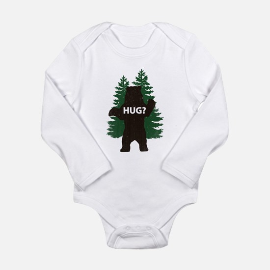 Bear hug? Long Sleeve Infant Bodysuit