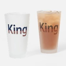 King Stars and Stripes Drinking Glass