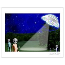 Alien Visit - Version 2 ~ Poster