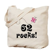 62nd Birthday Butterfly Tote Bag