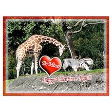 Helaines' Giraffe/Zebra Valen Poster