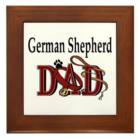 German Shepherd Dad Framed Tile