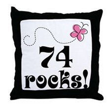 74th Birthday Butterfly Throw Pillow
