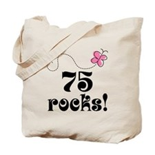 75th Birthday Butterfly Tote Bag