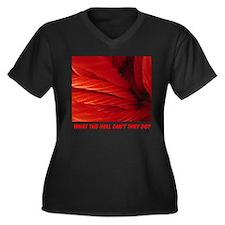 Licorice Women's Plus Size V-Neck Dark T-Shirt