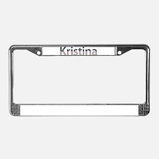Kristina Stars and Stripes License Plate Frame