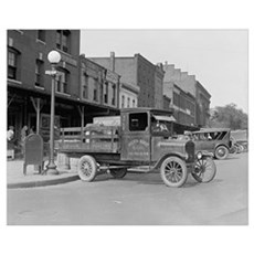 Poultry Delivery Truck, 1926 Canvas Art