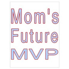 Mom's Future MVP Framed Print